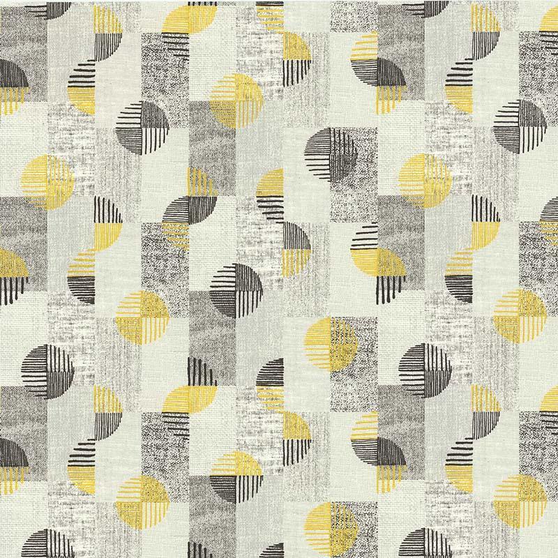 Papier peint Rondamier gris jaune  - RETRO VINTAGE - Lutèce - 51175402