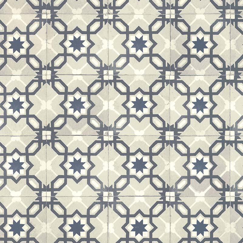 Papier peint Carreau bicolore bleu - RETRO VINTAGE - Lutèce - 51170201