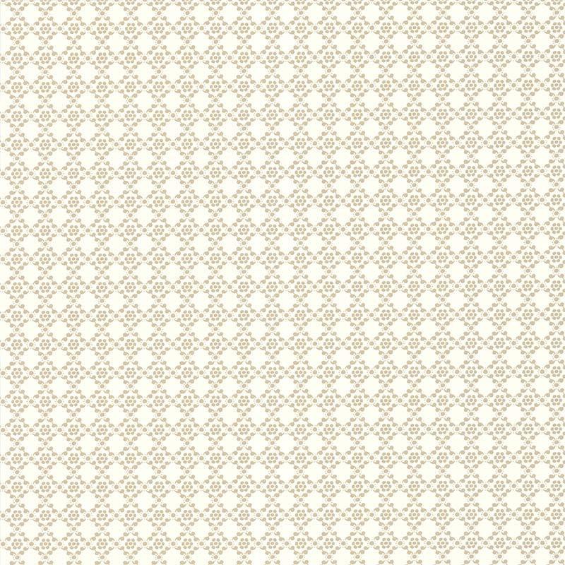 Papier peint Géométrie Florale beige - Rétro Vintage - Lutèce