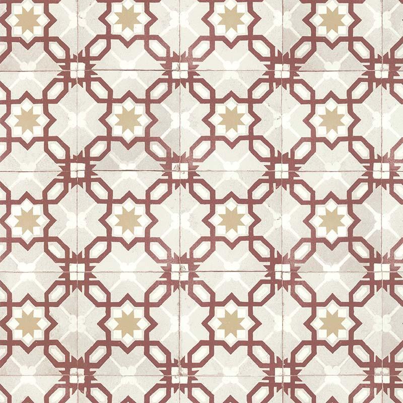 Papier peint Carreau Bicolore rouge - RETRO VINTAGE - Lutèce - 51170210