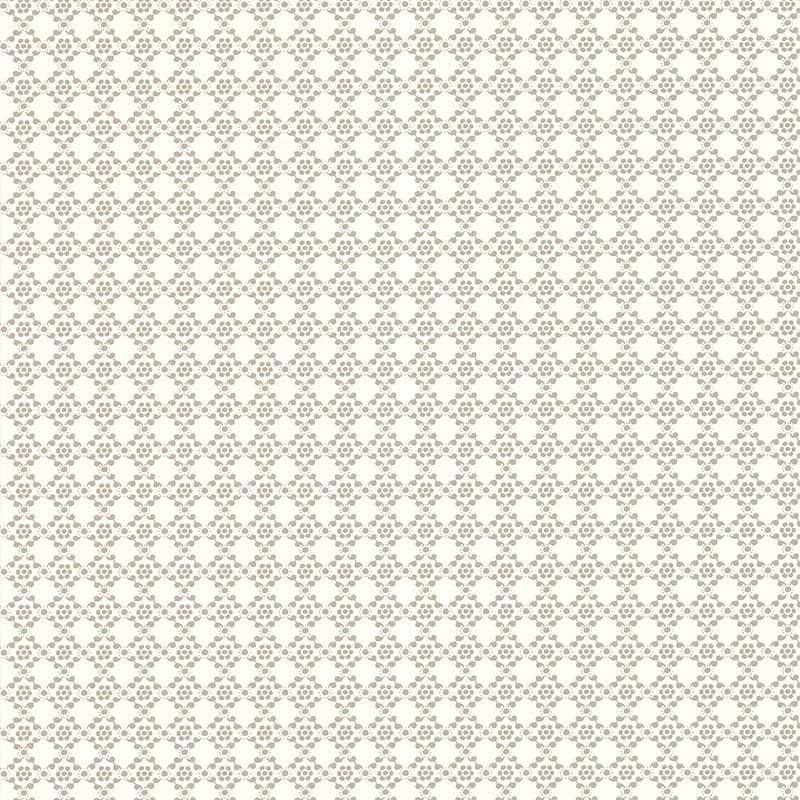 Papier peint Géometrie Florale Gris - RETRO VINTAGE - Lutèce - 51175209
