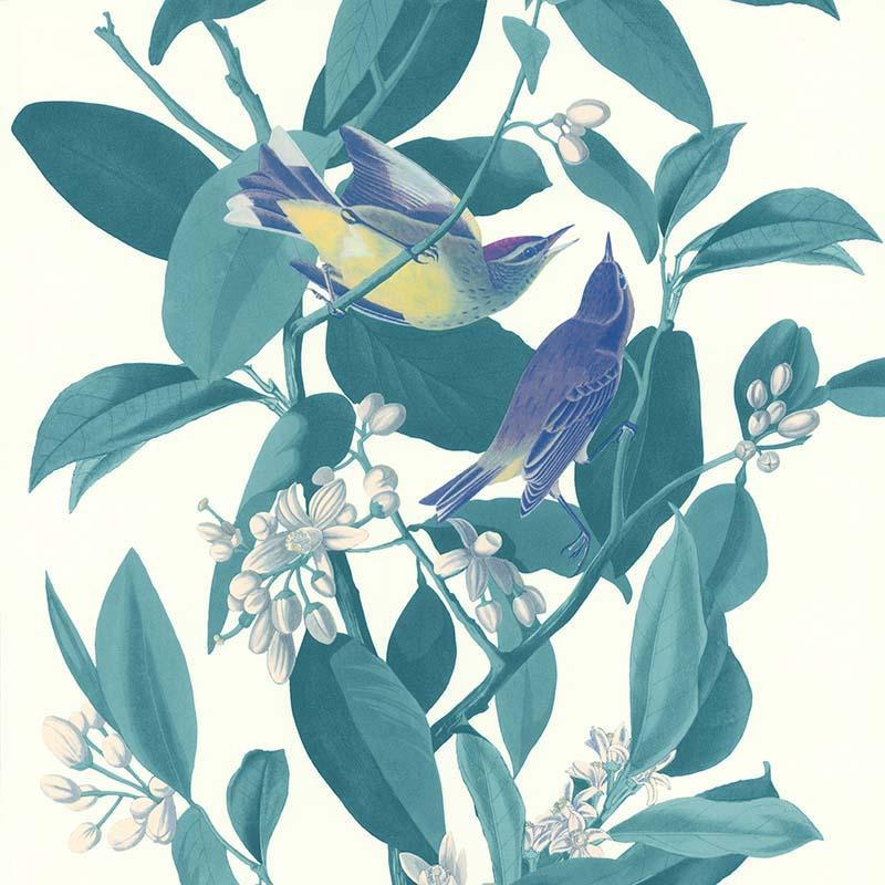 Papier peint Branche Oiseau vert - RETRO VINTAGE - Lutèce - 51175504