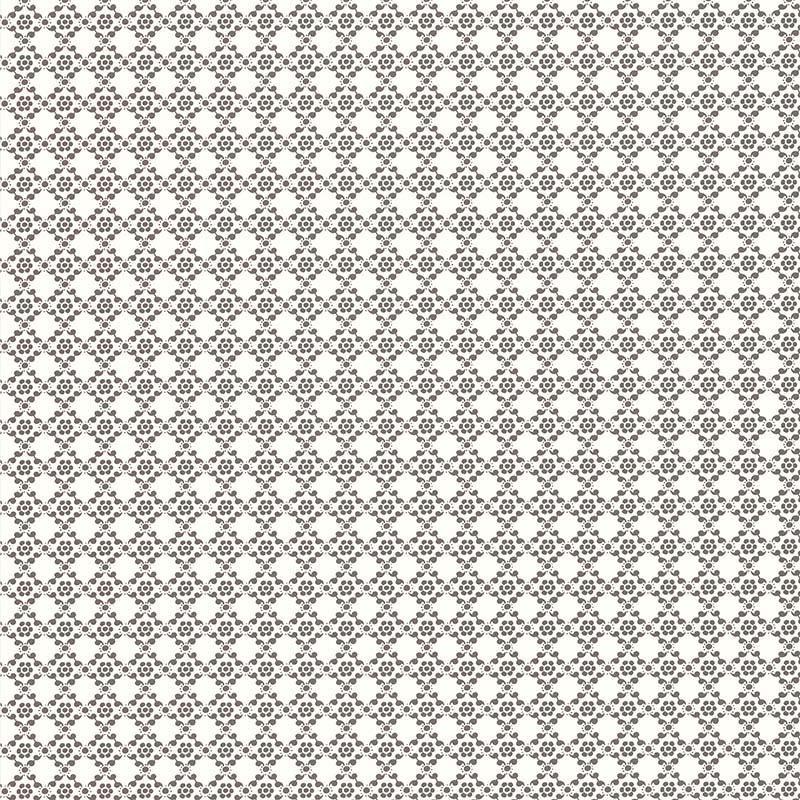Papier peint Géometrie Florale Gris Foncé - RETRO VINTAGE - Lutèce - 51175219