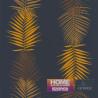 Papier peint FEUILLE PALME NAVY - Bensimon - Lutèce