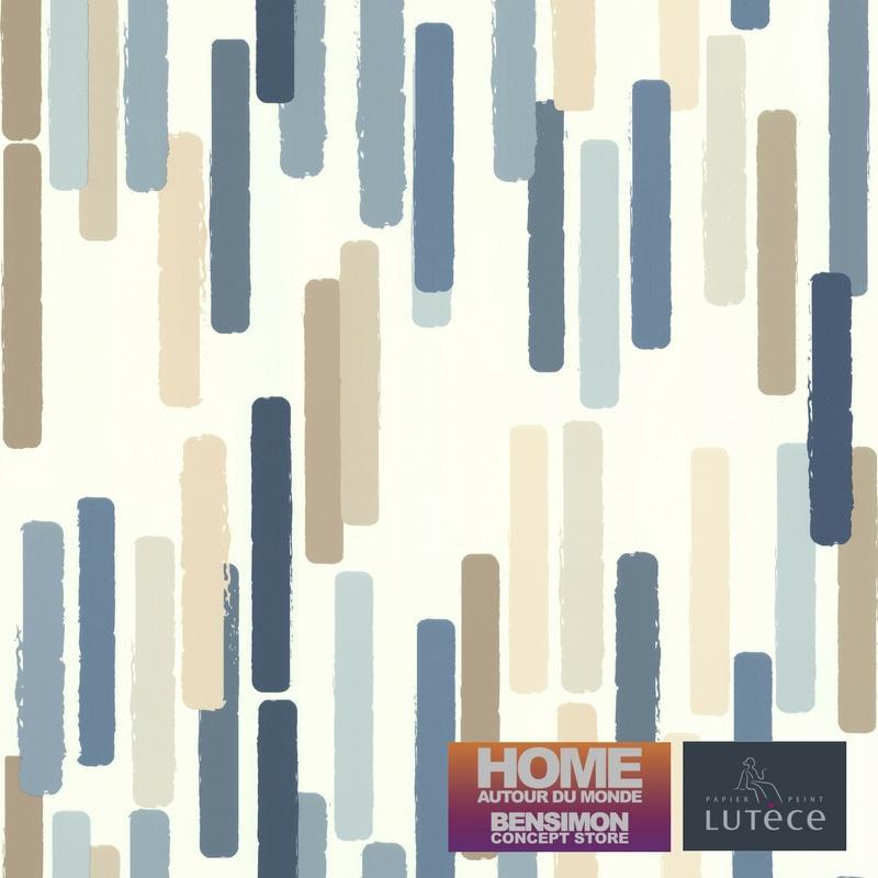 Papier peint Color Stick bleu - BENSIMON - Lutèce - 51172601