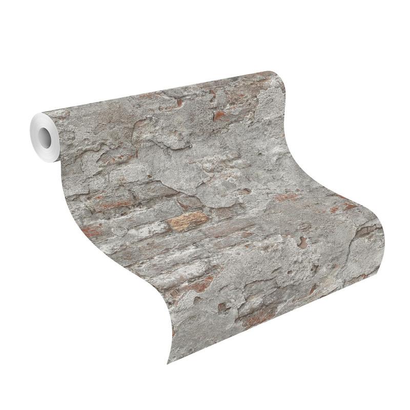 Papier Peint Effet Mur De Briques Collection Factory Iii Rasch