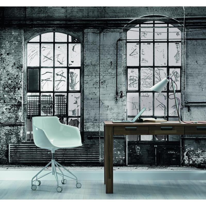 Panoramique Fenêtre Industrielle gris et blanc - FACTORY III - Rasch - 940930