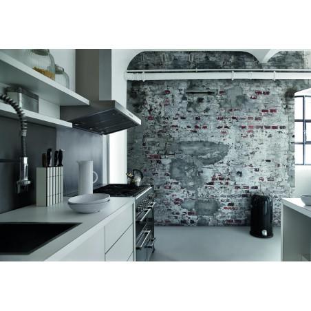 Panoramique Mur de Brique gris et blanc - FACTORY III - Rasch - 445404
