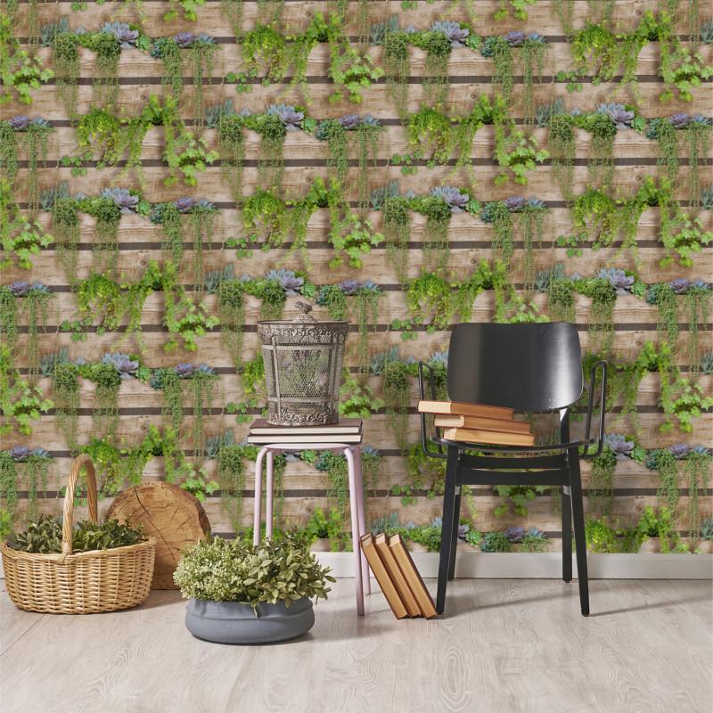 papier peint intiss trompe l 39 oeil palissa v g tal. Black Bedroom Furniture Sets. Home Design Ideas