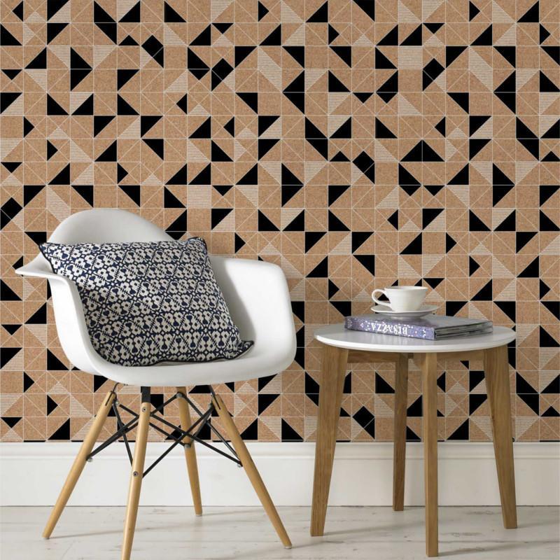 papier peint intiss liege scandi noir et blanc graham. Black Bedroom Furniture Sets. Home Design Ideas