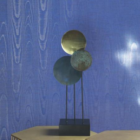 Papier peint OPÉRA bleu- Signature - Casadeco