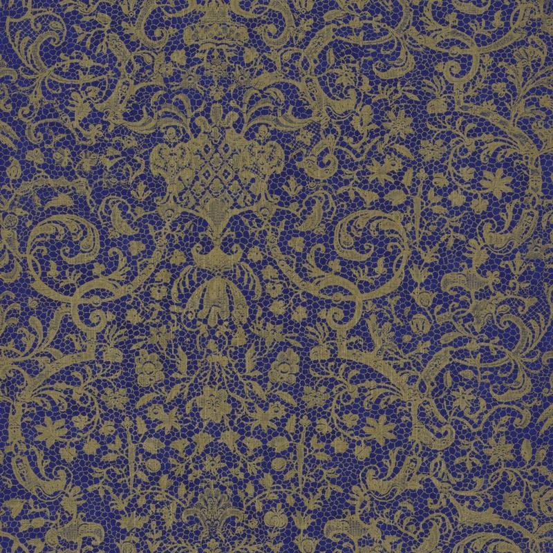 Papier peint Orsay  bleu - SIGNATURE - Casadeco - SIGN81976118