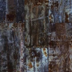 Panoramique métal oxydé - Factory III - Rasch