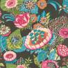 Papier peint Pivoine multicolore fond gris anthracite - Lucy in the sky - Rasch