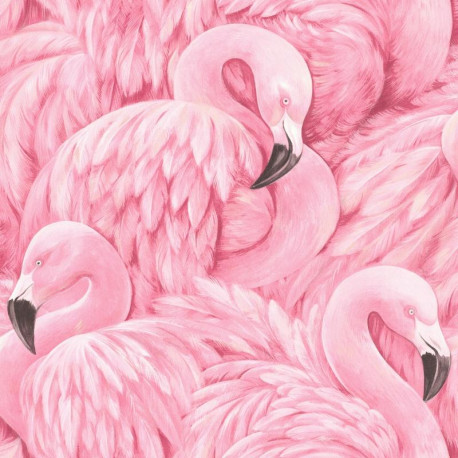 Papier peint Flamant rose - Lucy in the sky - Rasch