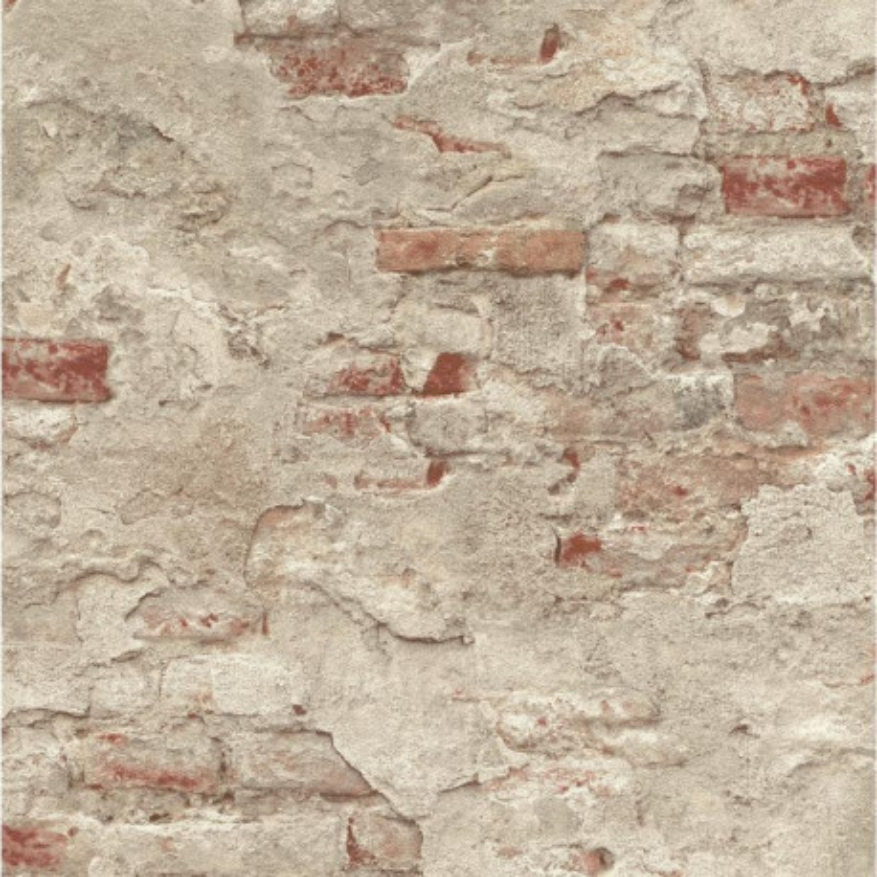 Papier peint effet mur de briques, collection Factory III   Rasch