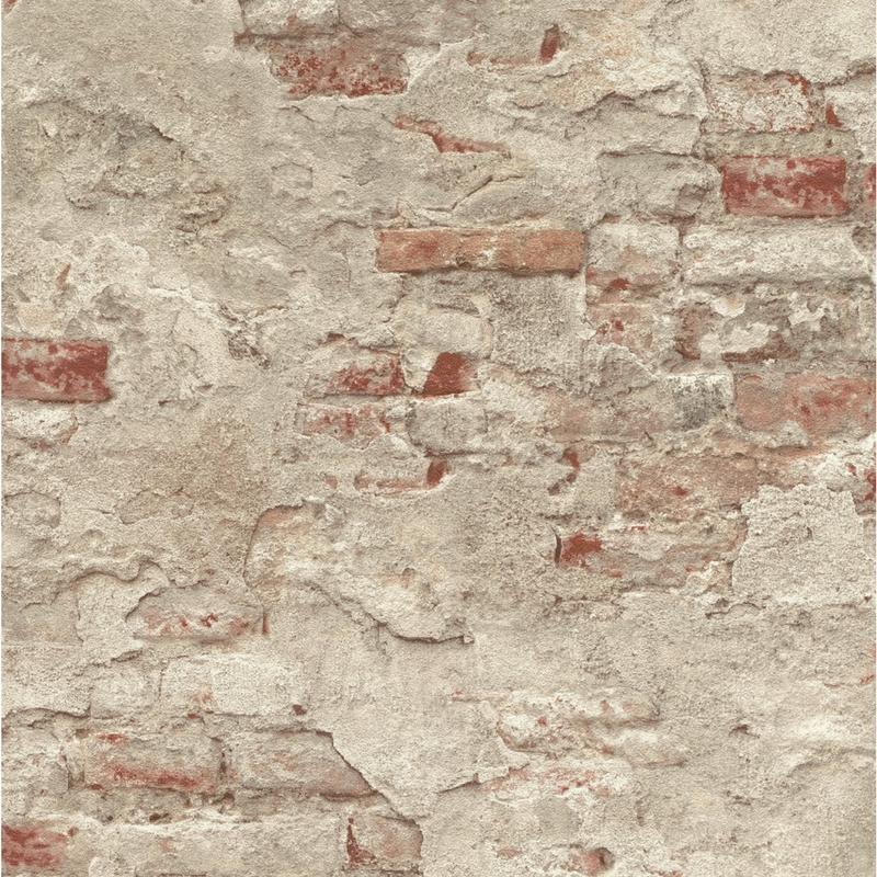 Papier peint Mur de Briques marron - FACTORY III - Rasch - 939323