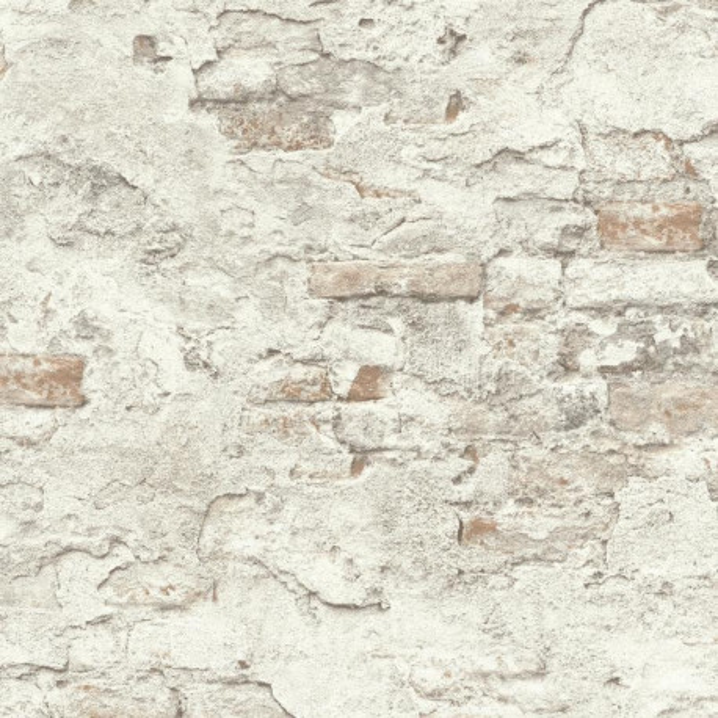 Papier peint Mur de Briques gris clair - FACTORY III - Rasch - 939316
