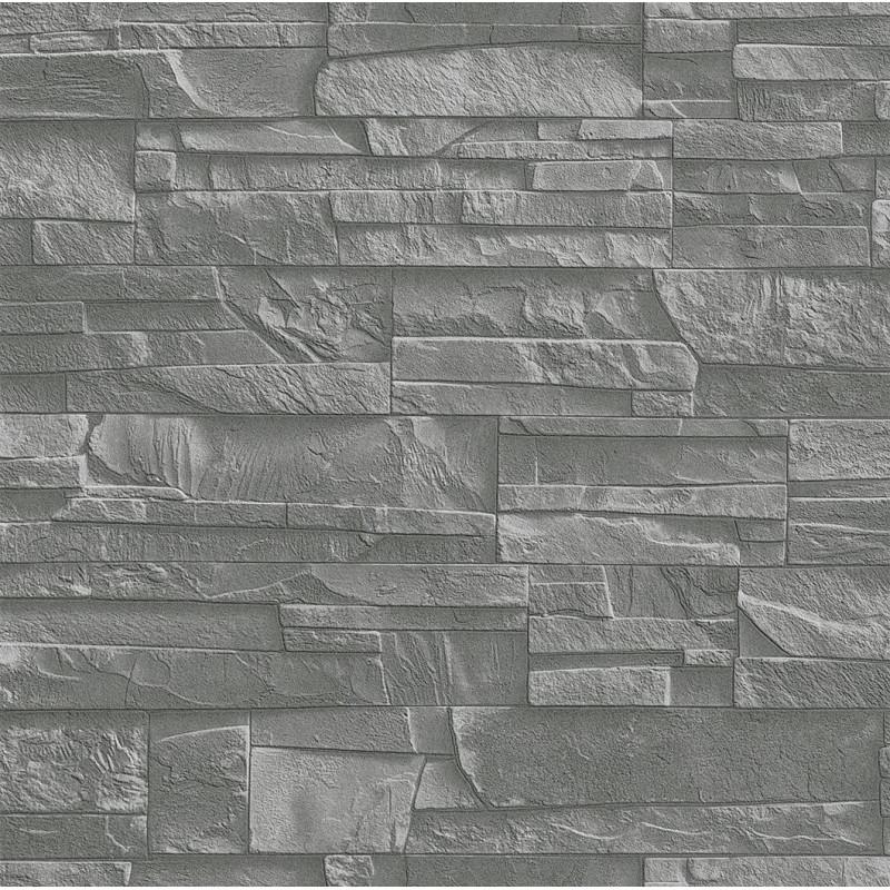 Papier peint Mur de pierre - FACTORY III - Rasch - 475029