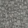Papier peint lettre en métal - Factory III - Rasch