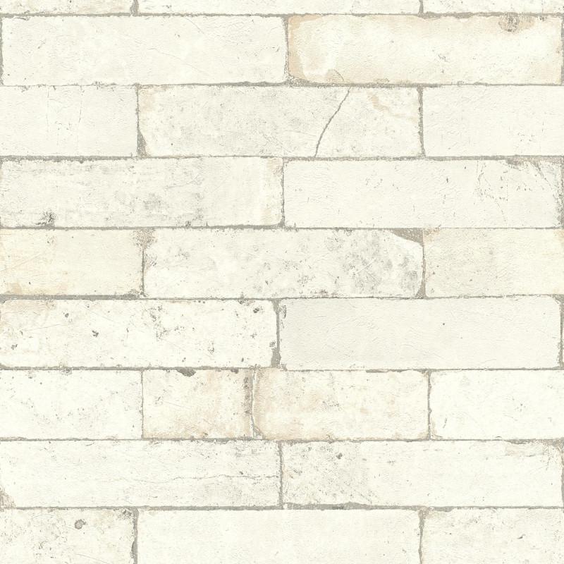 Papier peint Briques blanc - FACTORY III - Rasch - 446319