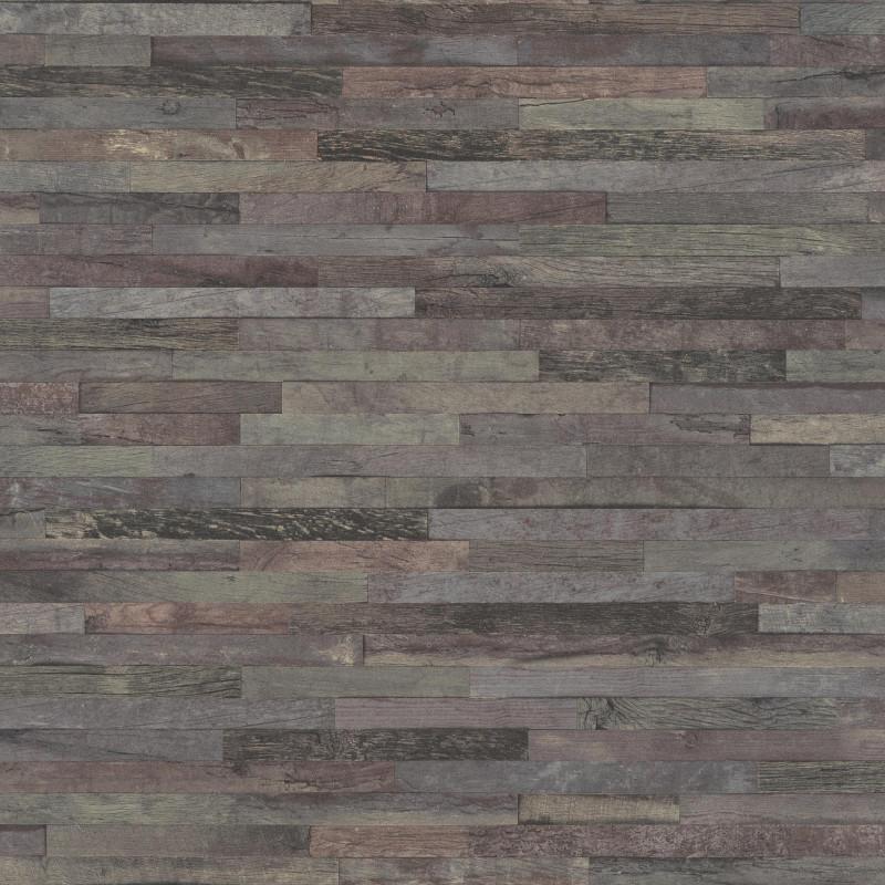 Papier peint Patchwork de bois - FACTORY III - Rasch - 939828