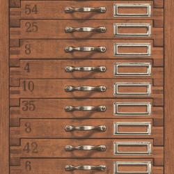 Papier peint tiroir marron - Factory III - Rasch