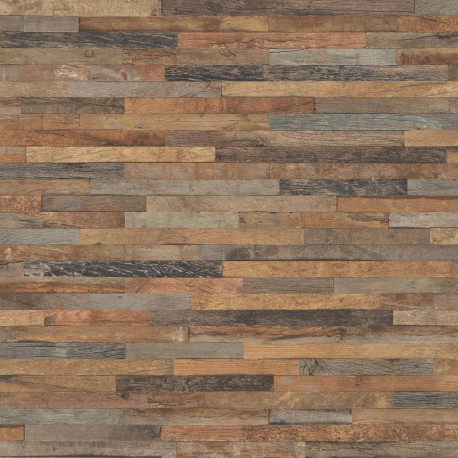 Papier peint patchwork de bois , collection Factory III -Rasch