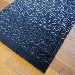 Tapis Cubes blanc dégradés, fond blanc noir - 160x230cm - ELLE - BALTA