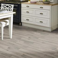 Revêtement PVC GEA parquet gris clair - Largeur 3m - Essentials 280T - TARKETT
