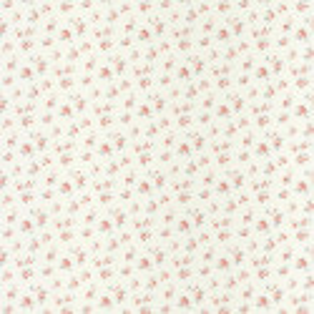 Papier peint Fleurs Liberty rose et bleu sur fond blanc - ASHLEY - Caselio