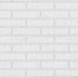 Papier peint trompe l'oeil Briques blanches - PS International