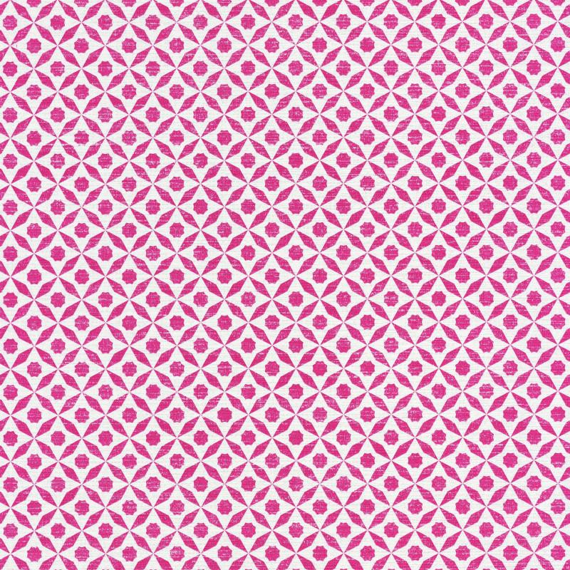 Papier peint Juba géométrique rose et blanc – Acapulco - Caselio