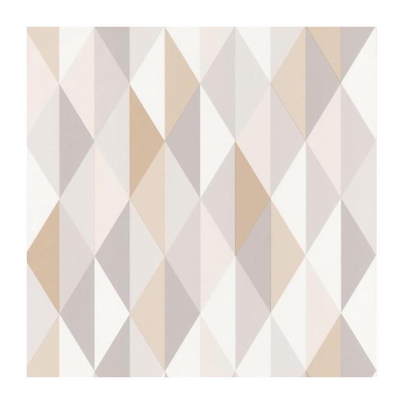Papier peint Diamond Triangles beige - SPACES - Caselio - SPA100081015