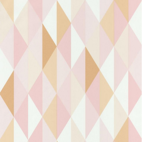 Papier Peint Diamond Triangles Geometriques Rose Spaces Caselio