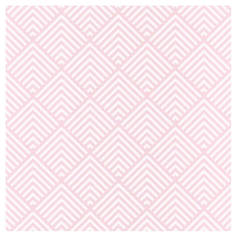 Papier peint Pyramid Triangles rose - SPACES - Caselio - SPA100094041