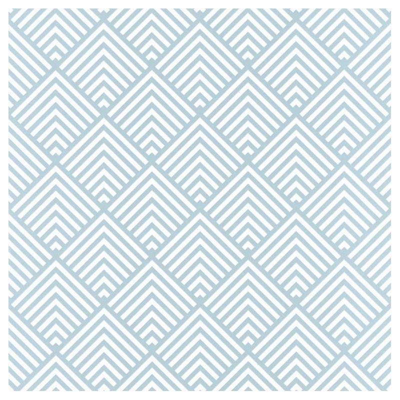 Papier peint Pyramid Triangles bleu - SPACES - Caselio - SPA100096199