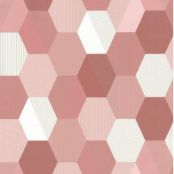 Papier peint Hexagon Rose – SPACES – Caselio