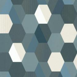 Papier peint Hexagon Bleu foncé – SPACES – Caselio