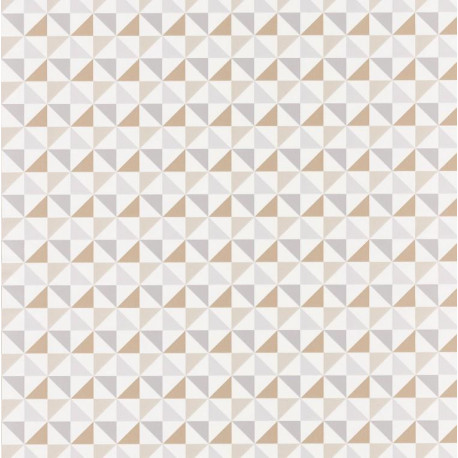 Papier peint Shapes Triangles Beige – SPACES – Caselio