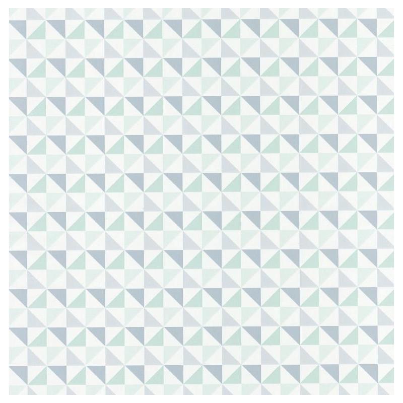 Papier peint Shapes Triangles bleu - SPACES - Caselio - SPA100117061