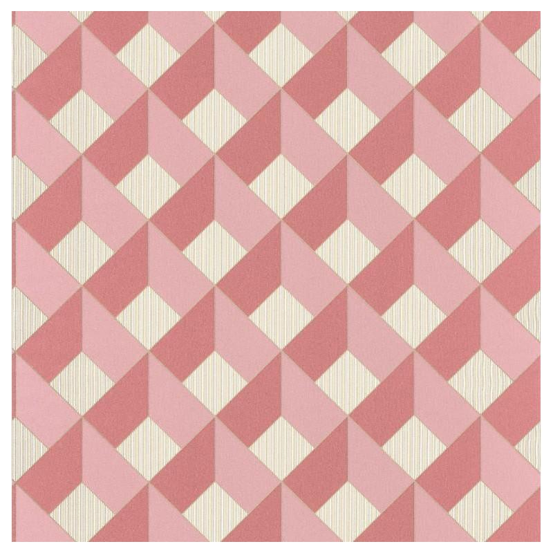 Papier peint Square Losange rose - SPACES - Caselio - SPA100124135