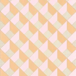 Papier peint Square Losange Rose/Orangé – SPACES – Caselio