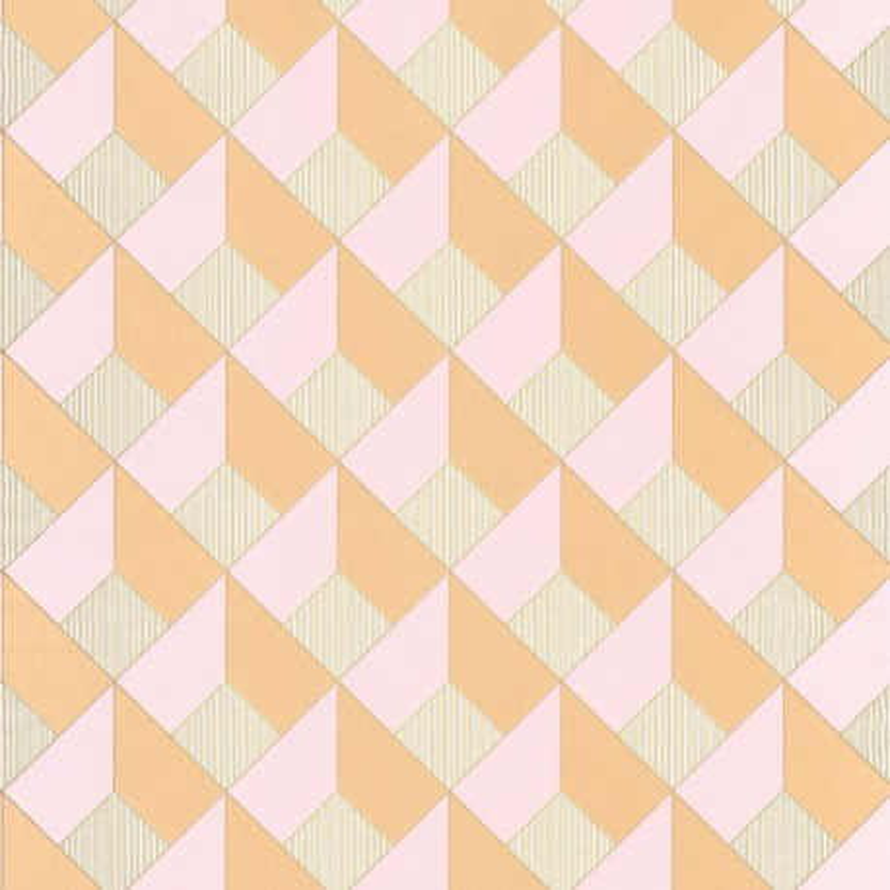 Papier peint Square Losange rose orange - SPACES - Caselio - SPA100124250