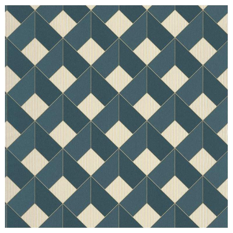 Papier peint Square Losange bleu foncé - SPACES - Caselio - SPA100126062