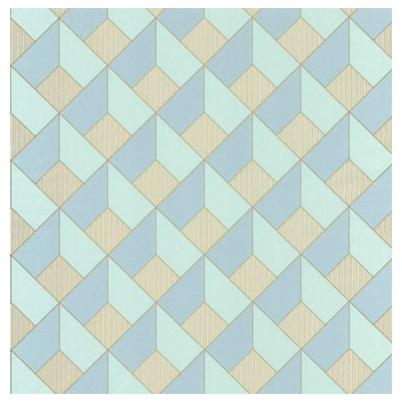 Papier peint Square Losange bleu vert - SPACES - Caselio - SPA100127069