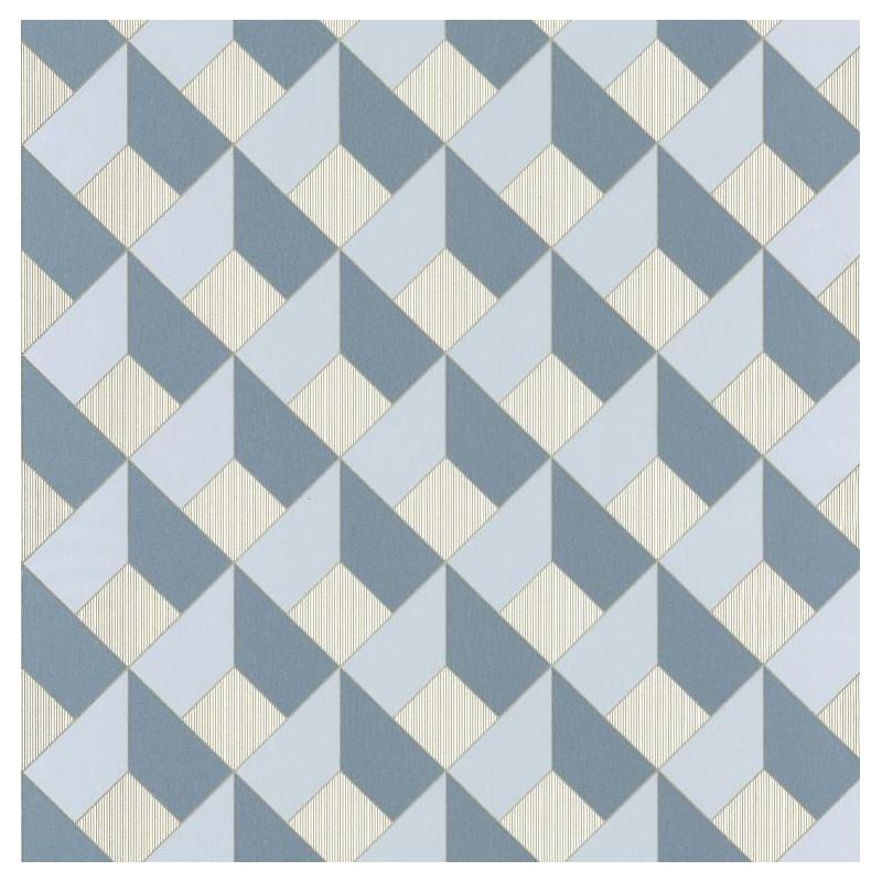 Papier peint Square Losange bleu gris - SPACES - Caselio - SPA100129090