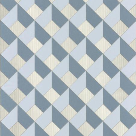 Papier peint Square Losange Bleu/Gris– SPACES – Caselio