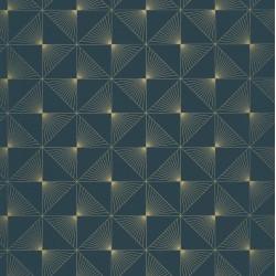 Papier peint Lines Carrés Bleu foncé – SPACES – Caselio