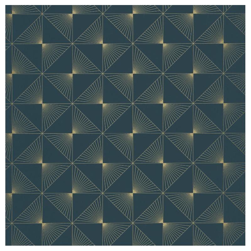 Papier peint Lines bleu foncé - SPACES - Caselio - SPA100136060